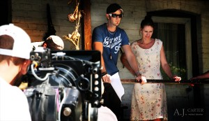 Director A.J. Carter on set of Ronan's Escape with Kirstie Francis - Perth, Western Australia